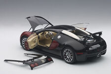 Autoart BUGATTI EB 16.4 VEYRON PRODUCTION CAR #001 BLACK/RED 1/18 LE of 1200 New