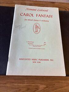 Carol Fantasy, Choral Score, Normand Lockwood 1952