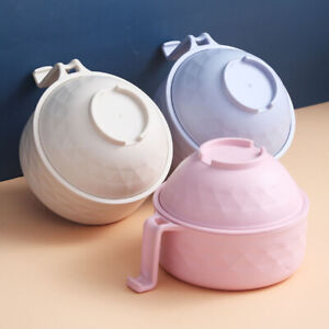 Household With Lid Instant Noodle Bowl Food Container Rice Soup Bowls Tableware