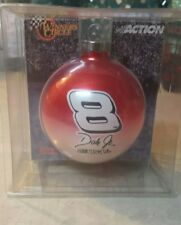 DALE EARNHARDT JR #8 RED / WHITE CHRISTMAS ORNAMENT TREE DECORATION BALL
