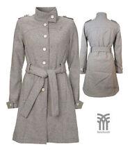 Manteaux et vestes gris en laine mélangée pour femme