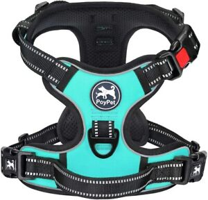 PoyPet No Pull Dog Harness - Mint Blue - Size Extra Small