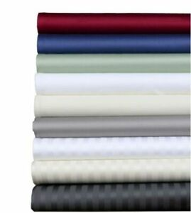 Full Size Deep Pocket US Bedding Item 1000 TC New Egyptian Cotton Striped Color