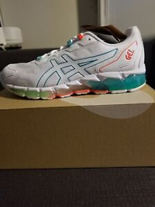 Asics Gel-Quantum 360 6 White/Techno Cyan Woman's (size 8)