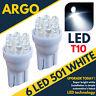 7 Led Xenon White 501 T10 W5w Sidelight Bulbs Toyota Avensis Saloon