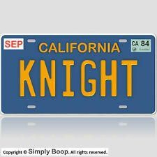 Knight Rider / '82 Trans Am / KITT / KNIGHT Prop Replica License Plate Aluminum