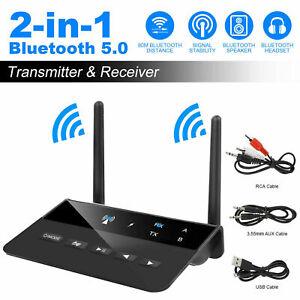 2 in1 Bluetooth 5.0 Long Range transmitter Receiver aptX HD Latency Adapter F1X7