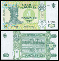 MOLDAVIA BILLETE 20 LEI. 2010 LUJO. Cat# P.13i