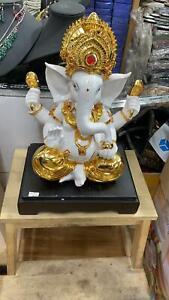 Fair Trade Hand Made Large Indian Ganesh Ganesha Elephant Hindu Deity Statue
