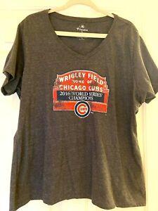 Fanatics Chicago CUBS  Shirt World Series Champions Size 2X 3X 20 22 NWOT