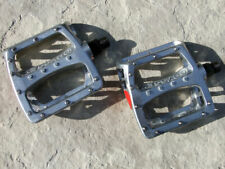 """Odyssey Twisted alloy bicycle platform pedals, cromoly spindles - 9/16"""", Silver"""