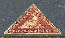 CAPE OF GOOD HOPE 1863-64 1p DARK CARMINE USED #12