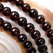 4mm Perles, sri lanka, rouge, grenat, pierre gemme,  ronde, lâche ,38cm