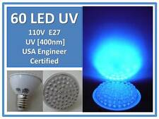 UV Bulb for Circuit Board Etching 60 LED 400Nm 110V E27 USA Engineer Certified