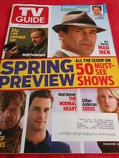 TV GUIDE MARCH 2014 JON HAMM MAD MEN GILLIAN ANDERSON CRISIS GAME OF THRONES