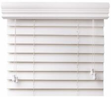 Value Priced Faux Wood Window Blinds - Two Colors - Free Shipping