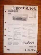 Service Manual Sony MDS-S40 Mini Disc Deck, Original