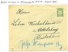 PALESTINE ISRAEL P.O OTTOMAN  1906 COVER  TIBERIADE TO  GERMANY  F/VF