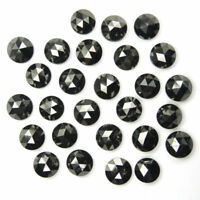 1.00 MM Real Natural Black Loose Diamond Round Rose Cut A1 Grade 10 Pc