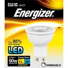 Energizer LED Gu10 Warm White 345lm 3000k Dimable, 5.5w