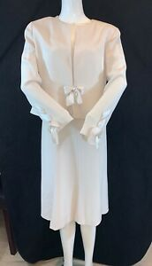 NEW CONDICI Cream Shift Dress & Jacket. Mother of the Bride/Groom. Size UK 16