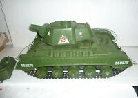 Vintage Motorized 1960s Deluxe Reading Tiger Joe Army Tank Toy Untested
