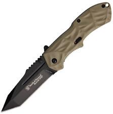 Smith & Wesson Folding Pocket Knife New Black Ops Linerlock A/O SWBLOP3TD