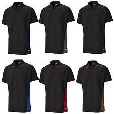 Dickies Two Tone Polo Shirt SH2004 Mens Short Sleeve 3 Button Work T-Shirt
