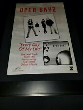Open Skyz Every Day Of My Life Rare Original Radio Promo Poster Ad Framed! #2