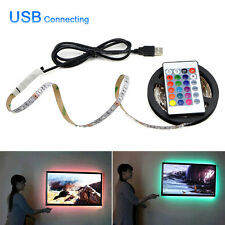 Modern 5v RGB 3528 LED Strip Remote USB Colour Changing TV PC Back Mood Lighting Non Waterproof 4m 240leds