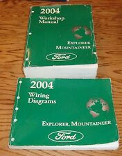 2004 Ford Explorer Mercury Mountaineer Shop Service Manual + Wiring Diagram Set