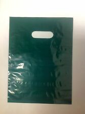 "25 12"" x 15"" Dark Green GLOSSY Low-Density Plastic Merchandise Bags"