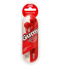 JVC F160 Gumy Bass Boost In-Ear Stereo Gummy Earbud Headphones - Red