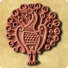 Peacock Decorative Terracotta Wall Tile - Made in England
