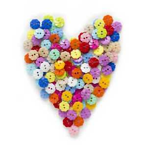 100pcs Flower Round Nylon Buttons for Sewing Scrapbooking Cloth Home Decor 13mm