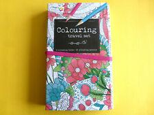 Malbuch für Erwachsene ca: 56 Vorlagen & 12 Buntstifte Blumen & co ca:19x10cm