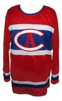 Any Name Number Size Montreal Custom Retro Hockey Jersey Red