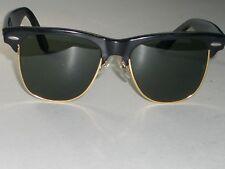 VINTAGE BAUSCH   LOMB RAY BAN W0534 BLACK GOLD G15 UV WAYFARER MAX  SUNGLASSES 219c19964d22
