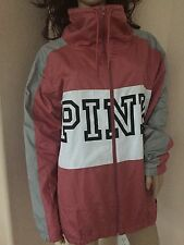 NWT Victoria's Secret PINK Funnel Neck Anorak Windbreaker Jacket Lined  M/L