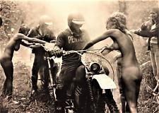 Motorcycle Racing Mud Run in the Winners Circle Vintage nude kool Image Poster