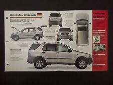 Mercedes-Benz ML320 IMP Hot Cars Spec Sheet Folder Brochure RARE
