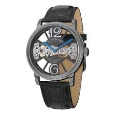 Stuhrling Original 785 02 Winchester Mechanical Bridge Black Leather Mens Watch