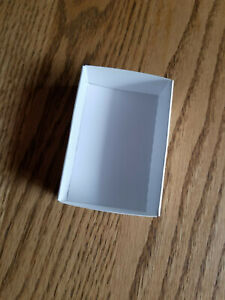 """FB-25 Fold up boxes 100 count White 3"""" X 2"""""""