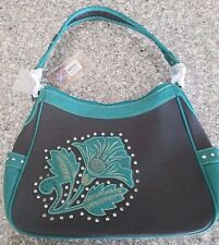 Montana West Purse New W/Tags Turquoise & BLACK LL-8291 CF