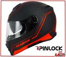 Casco Modulare S-LINE S550 Doppia Visiera + lente Pinlock Nero rosso tg XL