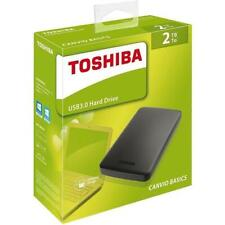 Toshiba Canvio Basics 2TB USB 3.0 Portable External Hard Disk Drive Black New
