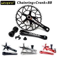 Litepro MTB Road bike 130BCD Crankset 170mm Crank Set Narrow Wide Chainring BB