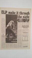 ELP 'make it through the night' 1973 UK ARTICLE / clipping