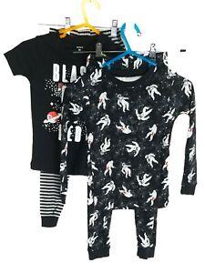 Carter's 5T Pajama Set Space 4 Pieces Cotton Snug Fit Long Short Sleeve New