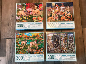 Bits and Pieces 300 piece jigsaw Puzzles Halloween, Fall, Animals